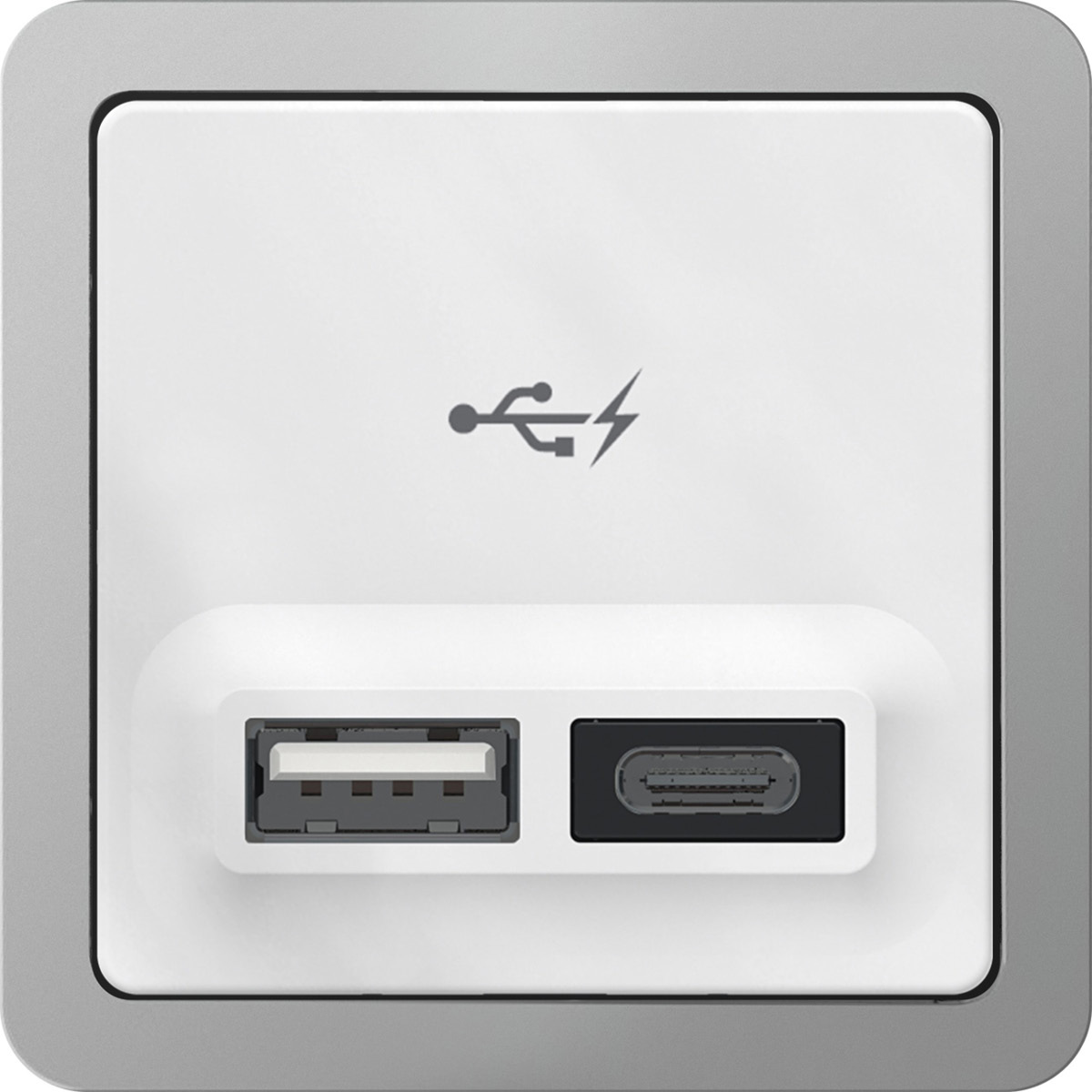 Stikkontakt med USB port og oplader