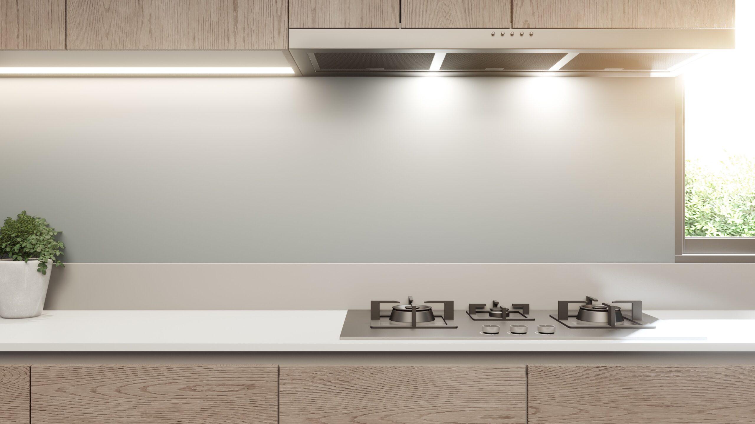 Nyt køkken med LED lys